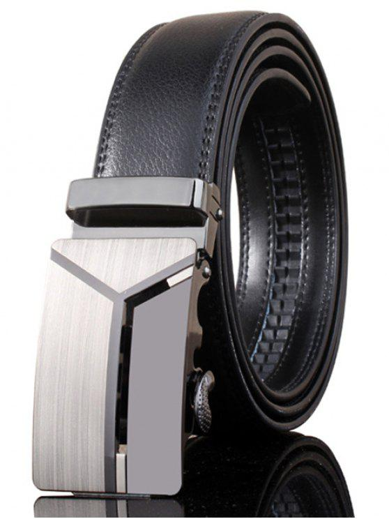 best Stylish Polished 3D Y Shape Automatic Buckle Wide Belt - DEEP GRAY