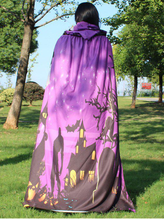Halloween Cloak Witch Hoodies Cosplay Costume - Violet Clair