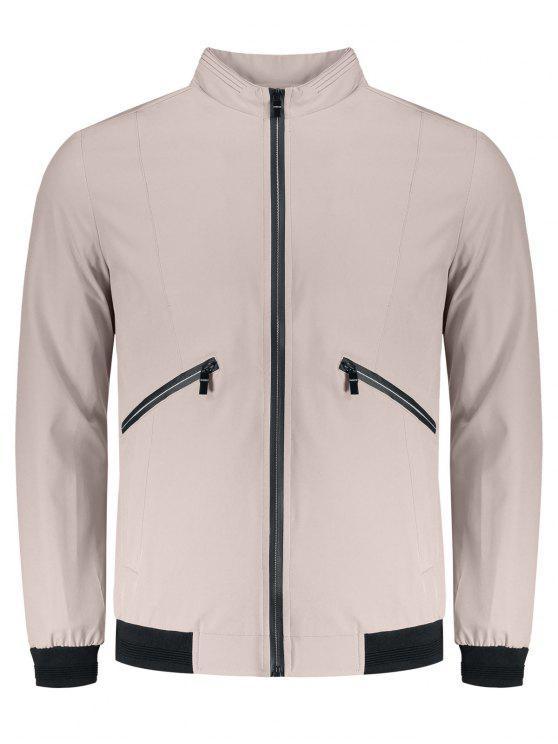 Jaqueta de bolso Zipper - Rosa 2XL