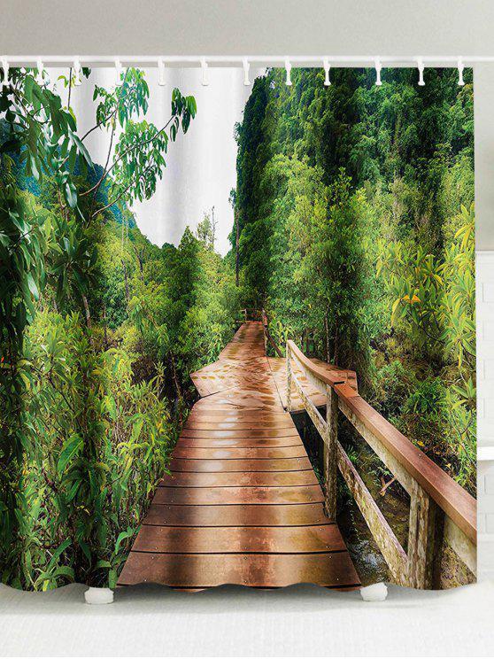 الممشى الوصول إلى نمط الغابات ستارة الحمام - مزيج ملون W71 بوصة * L79 بوصة