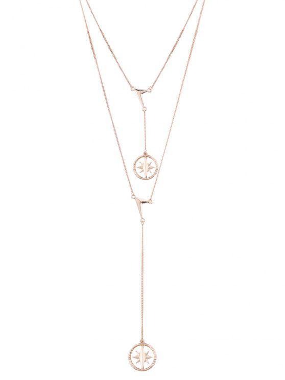Collar pendiente con forma de estrella de encanto - Dorado
