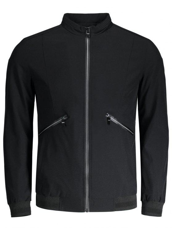 Zipper Pocket Waterproof Jacket BLACK: Jackets & Coats 4XL | ZAFUL