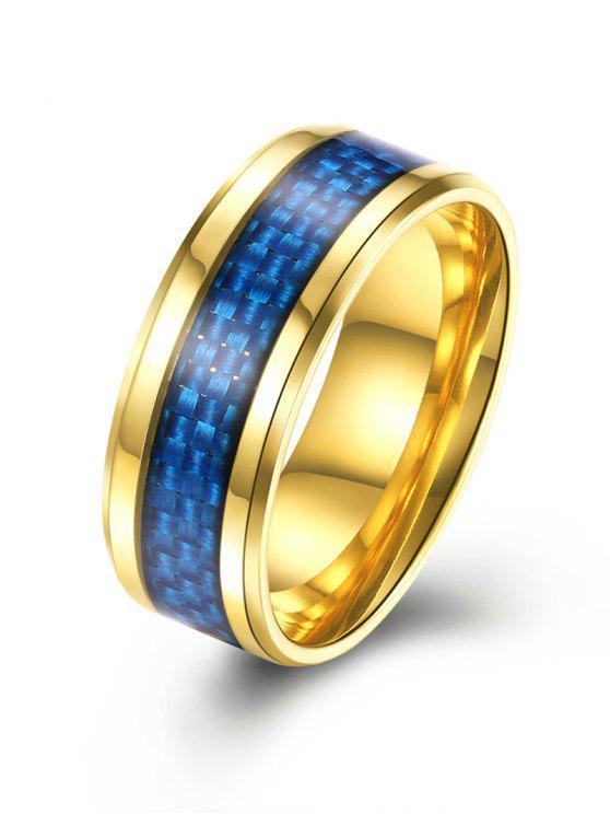 Anel de liga de padrão de tecelagem - Dourado 8