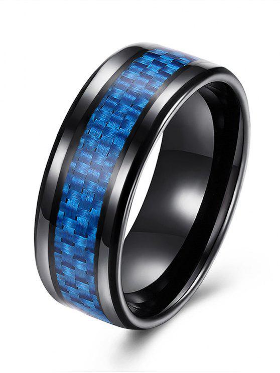 Anillo de aleación de forma de tejido - Azul 7