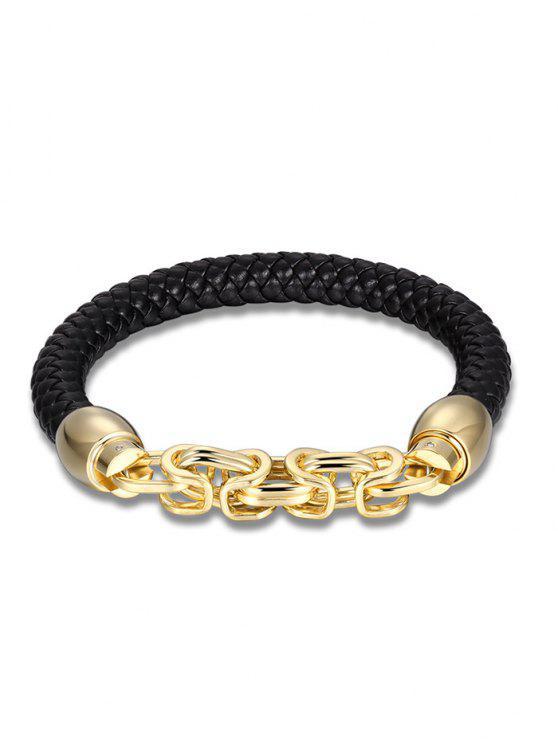 Bracelete de tecelagem de liga de corrente de liga - Dourado