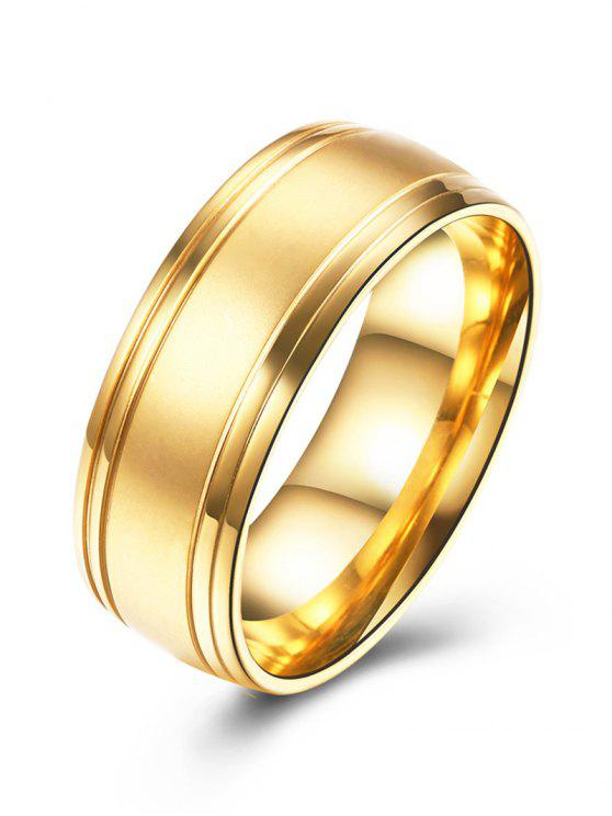 womens Alloy Finger Circle Ring - GOLDEN 8