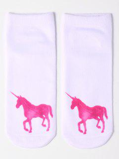 Cartoon Unicorn Socks - Tutti Frutti