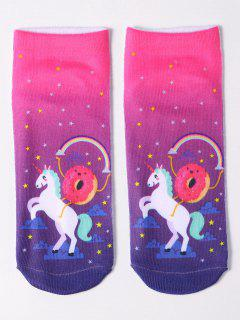 Magical Unicorn Ankle Socks - Purple