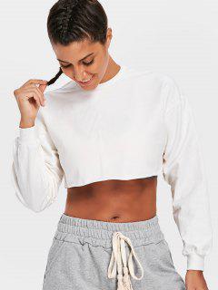 Sporty Cropped Sweatshirt - White