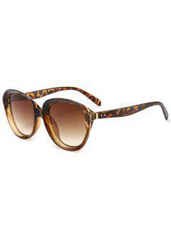 Anti UV Full Rim Driver Sunglasses - Brown Leopard