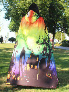 Halloween Cloak Witch Hoodies Cosplay Costume - Gradient Color