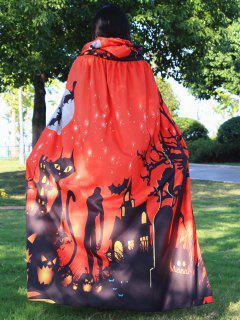 Halloween Cloak Witch Hoodies Cosplay Costume - Jacinth