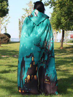 Halloween Cloak Witch Hoodies Cosplay Costume - Green