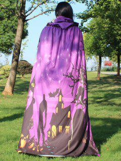 Halloween Cloak Witch Hoodies Cosplay Costume - Light Purple