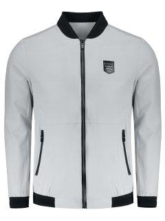 Bomber Zipper Jacket - Gray 2xl