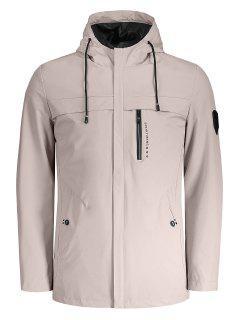 Hooded Slim Fit Zipper Jacke - Pink 2xl