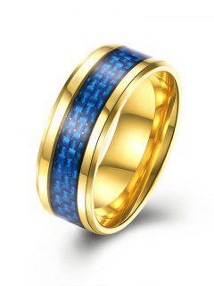 Weaving Pattern Alloy Ring - Golden 9