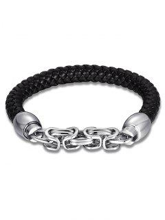 Link Chain Alloy Weaving Bracelet - Silver