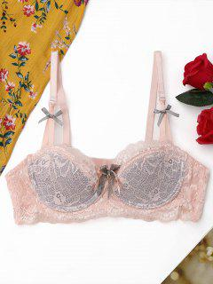Lace Scalloped Trim BH - Pink 70a
