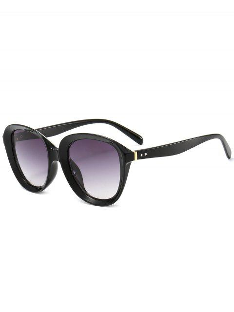 trendy Anti UV Full Rim Driver Sunglasses - BLACK+GREY  Mobile