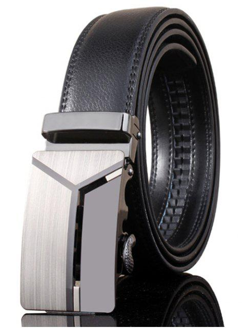 best Stylish Polished 3D Y Shape Automatic Buckle Wide Belt - DEEP GRAY  Mobile