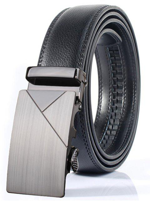 online Polished Geometric Automatic Buckle Wide Belt - FROST  Mobile
