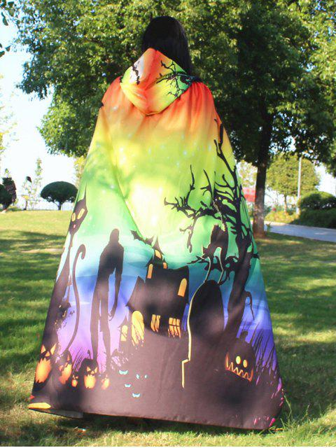 hot Halloween Cloak Witch Hoodies Cosplay Costume - GRADIENT COLOR  Mobile