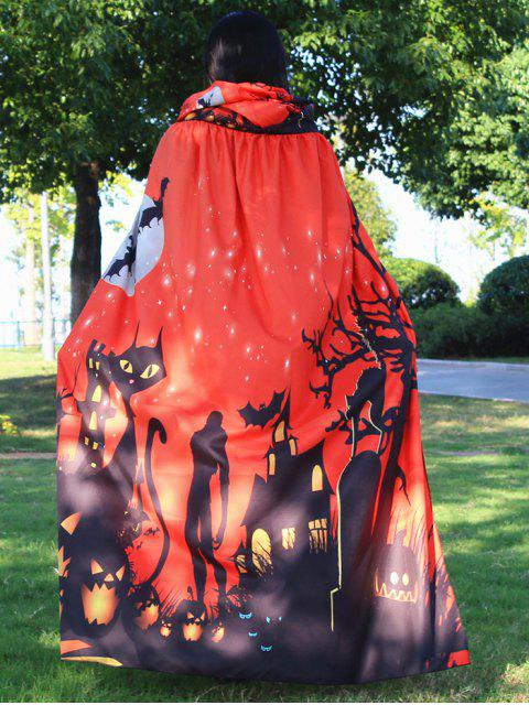 Halloween Cloak Witch Hoodies Cosplay Costume - Tangerine  Mobile