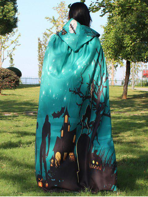 fashion Halloween Cloak Witch Hoodies Cosplay Costume - GREEN  Mobile
