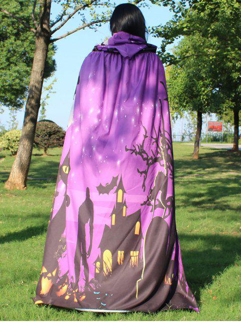 unique Halloween Cloak Witch Hoodies Cosplay Costume - LIGHT PURPLE  Mobile