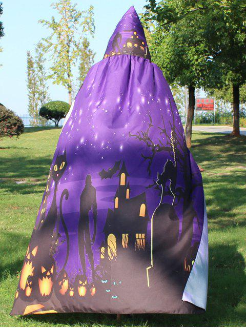 buy Halloween Cloak Witch Hoodies Cosplay Costume - DEEP PURPLE  Mobile