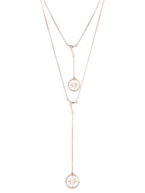 Collar pendiente con forma de estrella de encanto - Dorado  Mobile