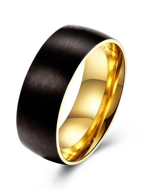 Anillo del anillo del dedo de la aleación de la vendimia - Dorado 8 Mobile