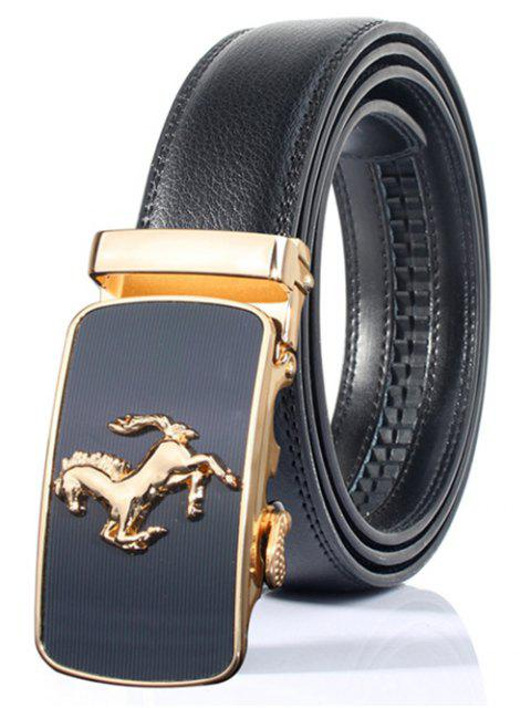 ladies Stylish Horse Shape Emboss Automatic Buckle Wide Belt -   Mobile