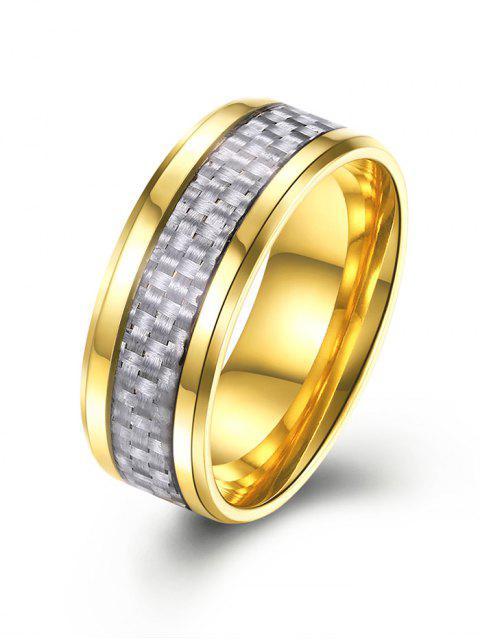 Brillante anillo de aleación de patrón de tejido - Dorado 7 Mobile