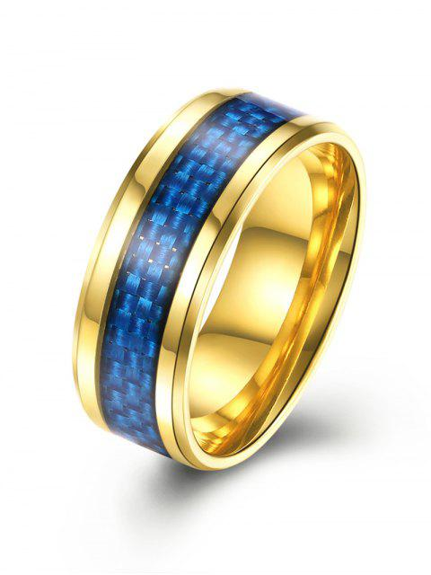 fancy Weaving Pattern Alloy Ring - GOLDEN 9 Mobile
