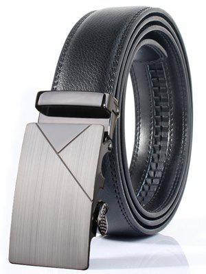 Cinturón Ancho Pulido Geométrica Estilo Hebilla Automática