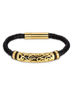Hollow Out Carve Alloy Weaving Bracelet