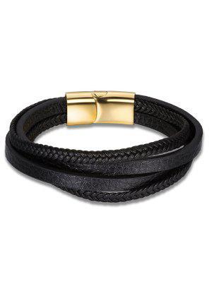 Faux Leder mehrschichtiges Geflochtenes Armband
