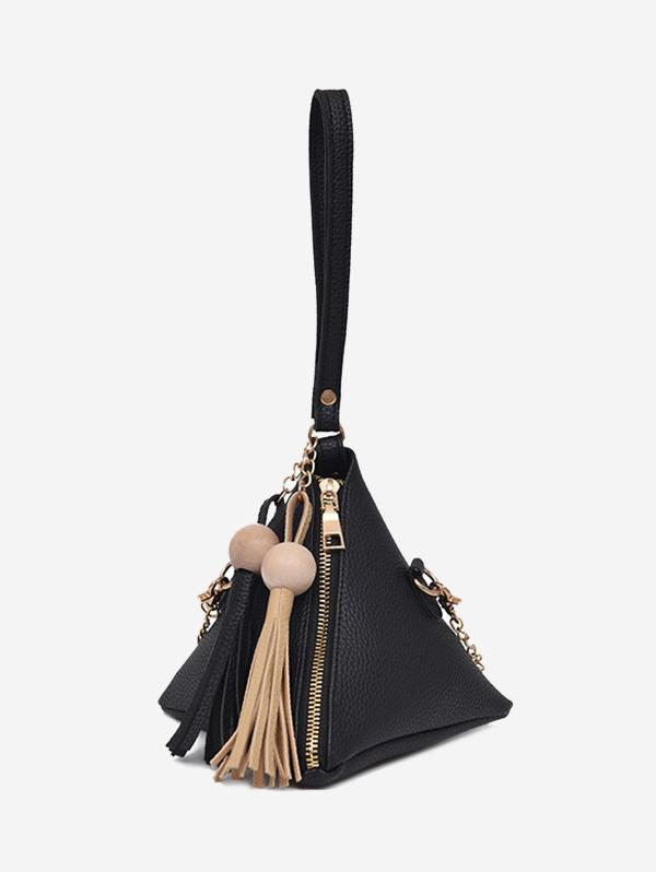 Geometric Stereo Triangle Tassel Tote Bag 228394501