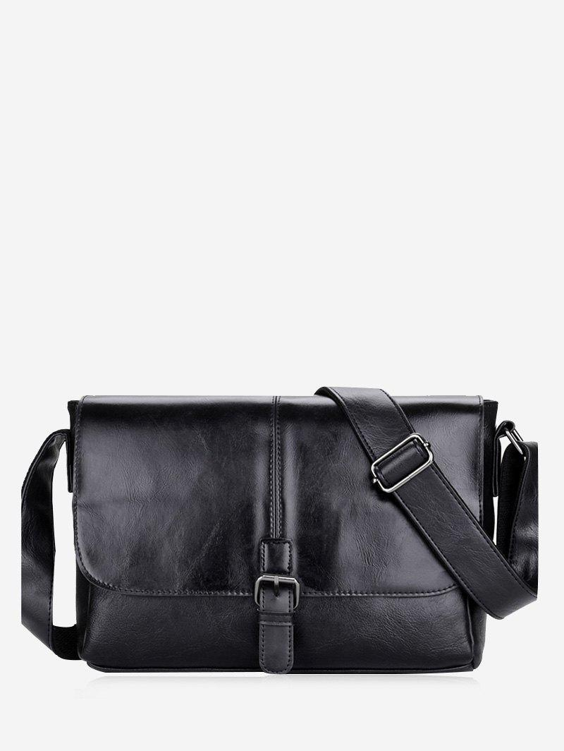 PU Leather Buckle Strap Crossbody Bag