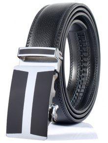 بسيطة H الشكل التلقائي مشبك حزام واسعة - أسود
