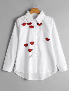 Camisa Feminina Com Bordados - Branco S