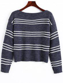 Long Sleeve Stripes Pullover Sweater