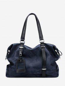 حقيبة يد بطبعة العسكر - الأزرق التمويه