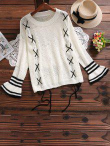 Suéter Feminina De Tricô Manga Longa Sino - Quase Branco