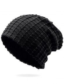 في الهواء الطلق منقوشة المخملية قبعة صغيرة - أسود