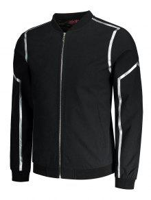 Chaqueta Bordada Zipper Bordada Chaqueta Zipper 2xl Negro q4Zpqw1R