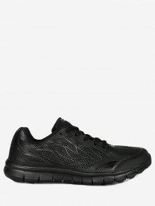 شبكة الدانتيل يصل أحذية رياضية - أسود 35