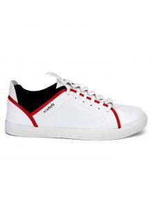 جولة اصبع القدم إلكتروني طباعة المنخفضة أعلى أحذية رياضية - أبيض 43